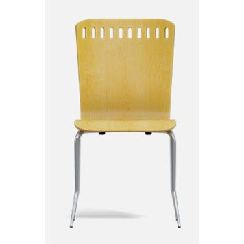 School Breakout Furniture - Just For Education - 4 Leg Cuckoo Beech Chair with Chrome Frame