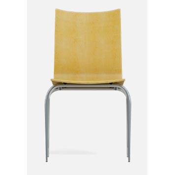 School Breakout Furniture - Just For Education - 4 Leg Cuckoo Oak Chair with Chrome Frame