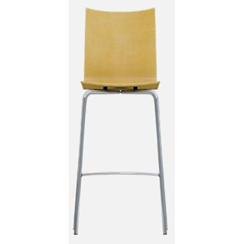 School Breakout Furniture - Just For Education - 4 Leg Cuckoo Oak Stool with Chrome Frame
