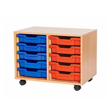 sale - Just For Education - 10 Tray Mobile Unit With 2 Rows Of Trays