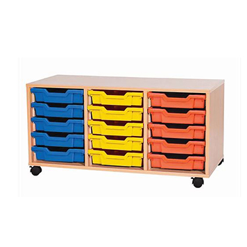 sale - Just For Education - 15 Tray Mobile Unit With 3 Rows Of Trays