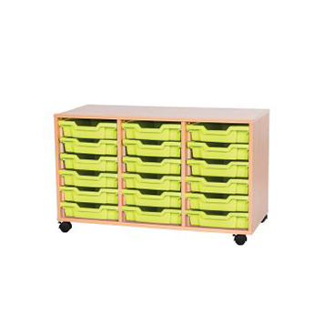 sale - Just For Education - 18 Tray Mobile Unit With 3 Rows Of Trays