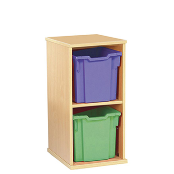 School Desking Storage and Tray Storage - Just For Education - 2 Drawer Deep Tray Units