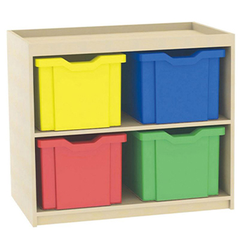 School Desking Storage and Tray Storage - Just For Education - 4 Drawer Deep Tray Units