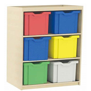 School Desking Storage and Tray Storage - Just For Education - 6 Drawer Deep Tray Units