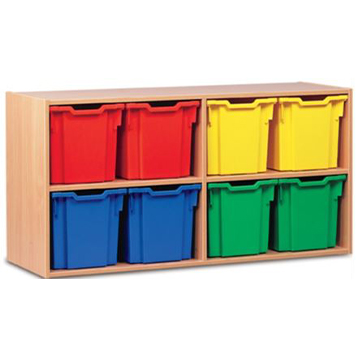 School Desking Storage and Tray Storage - Just For Education - 8 Drawer Deep Tray Units