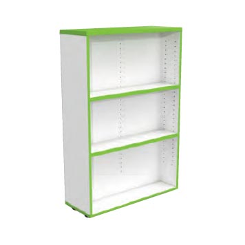 School Library Solutions - Just For Education - Medium Single Side Bookcase With Optional Colour Top And Matching Edge Colour