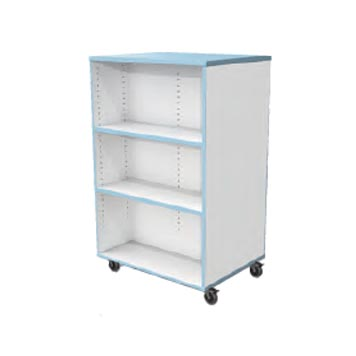 School Library Solutions - Just For Education - Mobile Single Side Bookcase With Optional Colour Top And Matching Edge Colour