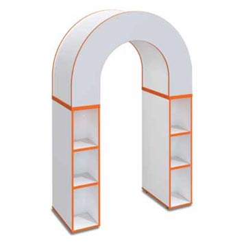 School Library Solutions - Just For Education - Book Archway Bookcase With Optional Colour Top And Matching Edge
