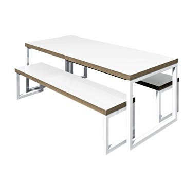 School Breakout Furniture - Just For Education - Block Steel Bench