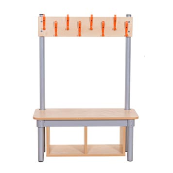 School Lockers and Cloakroom - Just For Education - Hook Bench - Single Sided